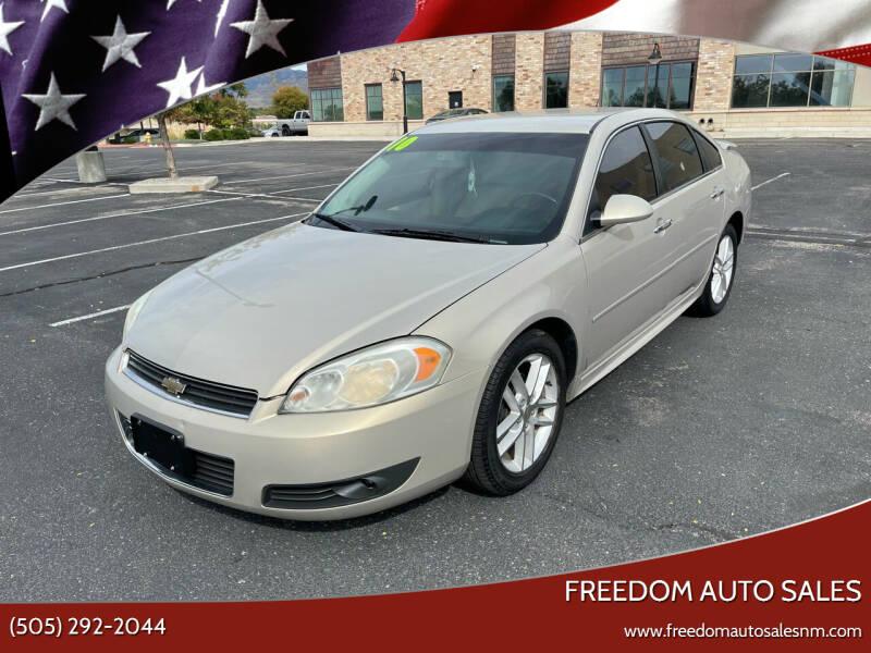 2010 Chevrolet Impala for sale at Freedom Auto Sales in Albuquerque NM