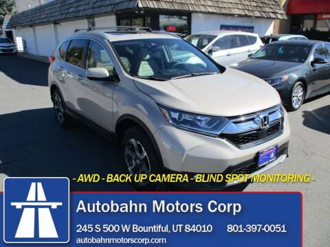 2017 Honda CR-V for sale at Autobahn Motors Corp in Bountiful UT