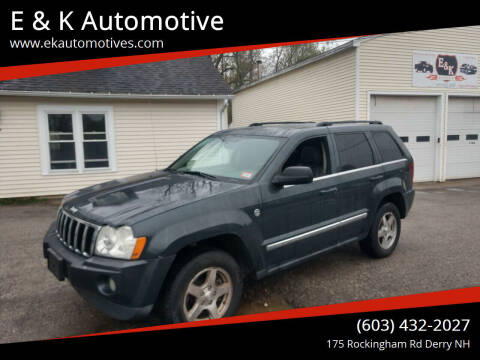 2007 Jeep Grand Cherokee for sale at E & K Automotive in Derry NH