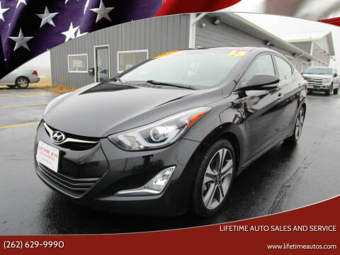 2015 Hyundai Elantra for sale at Lifetime Auto Sales and Service in West Bend WI