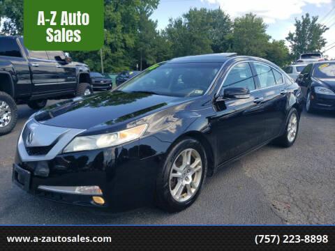 2010 Acura TL for sale at A-Z Auto Sales in Newport News VA
