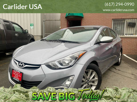 2016 Hyundai Elantra for sale at Carlider USA in Everett MA