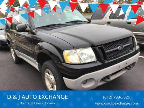 2001 Ford Explorer Sport for sale at D & J AUTO EXCHANGE in Columbus IN
