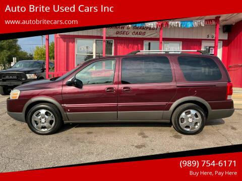 2007 Pontiac Montana SV6 for sale at Auto Brite Used Cars Inc in Saginaw MI