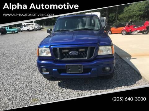 2004 Ford Ranger for sale at Alpha Automotive in Odenville AL