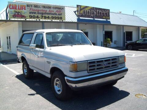 1988 Ford Bronco for sale at LONGSTREET AUTO in St Augustine FL