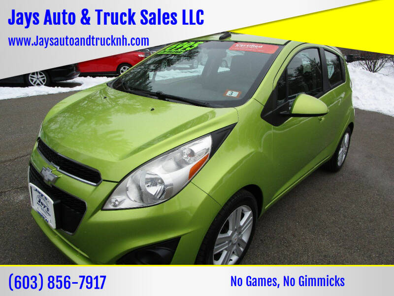2013 Chevrolet Spark for sale at Jays Auto & Truck Sales LLC in Loudon NH