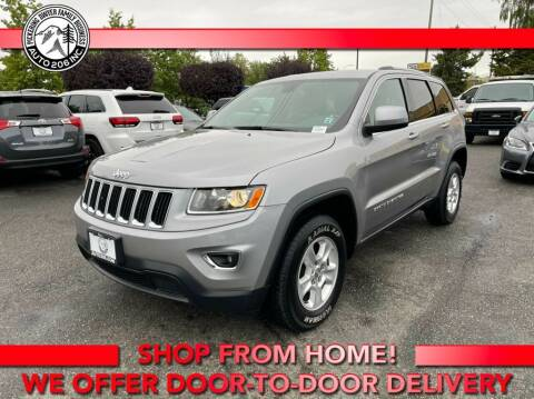 2016 Jeep Grand Cherokee for sale at Auto 206, Inc. in Kent WA