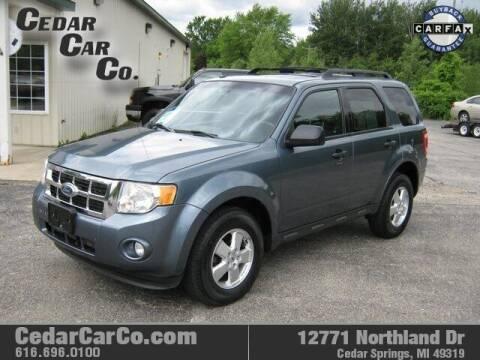 2011 Ford Escape for sale at Cedar Car Co in Cedar Springs MI