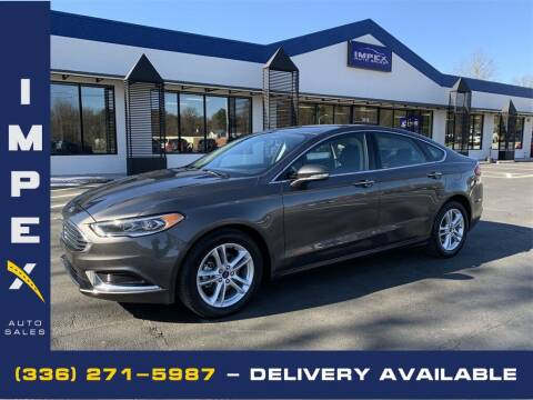 2018 Ford Fusion for sale at Impex Auto Sales in Greensboro NC