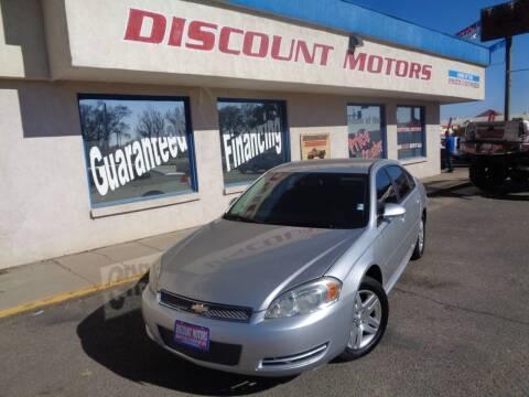 2013 Chevrolet Impala for sale at Discount Motors in Pueblo CO