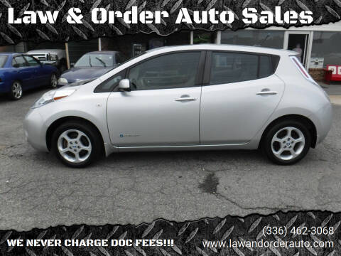 2012 Nissan LEAF for sale at Law & Order Auto Sales in Pilot Mountain NC
