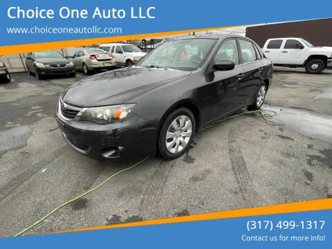 2009 Subaru Impreza for sale at Choice One Auto LLC in Beech Grove IN