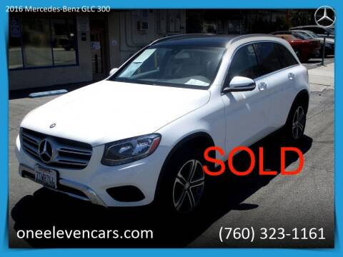2016 Mercedes-Benz GLC for sale at One Eleven Vintage Cars in Palm Springs CA