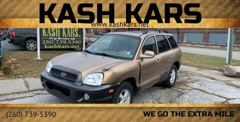 2004 Hyundai Santa Fe for sale at Kash Kars in Fort Wayne IN