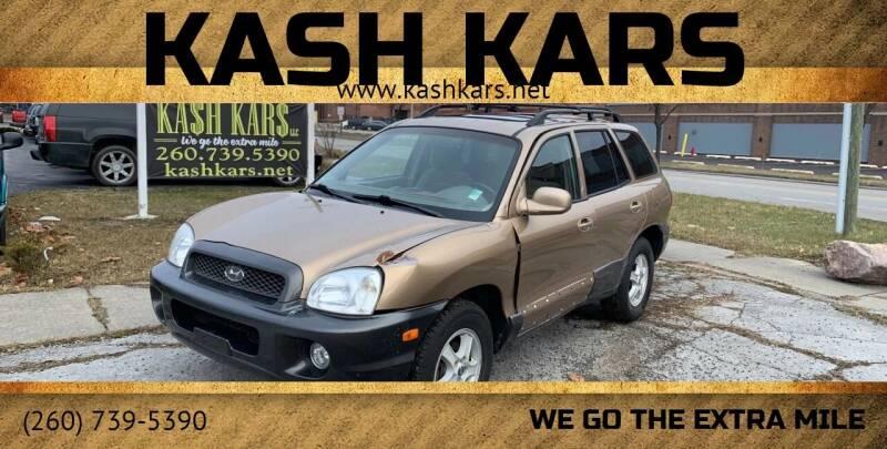 2004 Hyundai Santa Fe for sale at Kash Kars in Fort Wayne IN