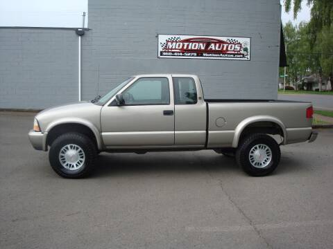 2001 GMC Sonoma for sale at Motion Autos in Longview WA