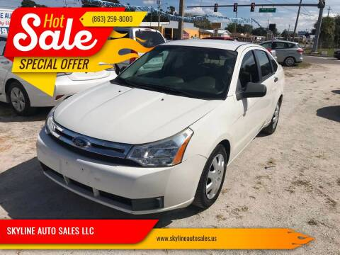 2010 Ford Focus for sale at SKYLINE AUTO SALES LLC in Winter Haven FL