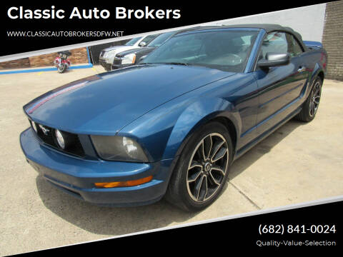 2006 Ford Mustang for sale at Classic Auto Brokers in Haltom City TX