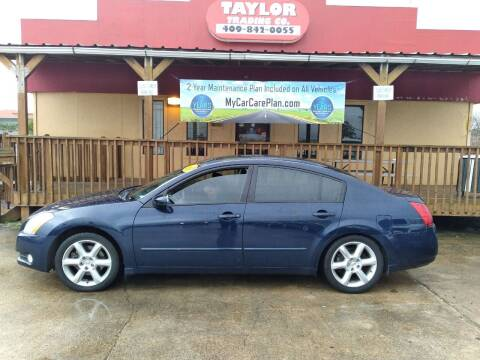 2006 Nissan Maxima for sale at Taylor Trading Co in Beaumont TX