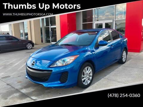 2012 Mazda MAZDA3 for sale at Thumbs Up Motors in Warner Robins GA