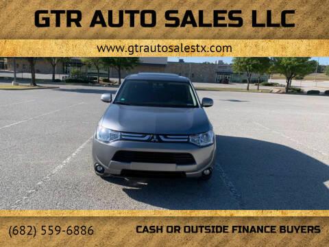 2014 Mitsubishi Outlander for sale at GTR Auto Sales LLC in Haltom City TX