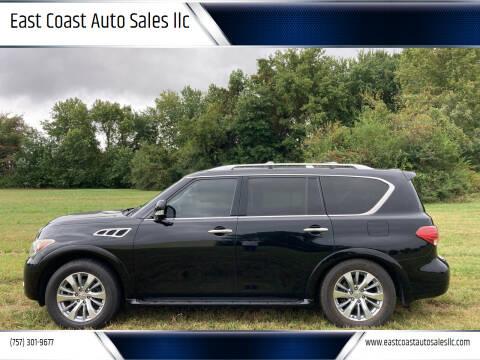 2011 Infiniti QX56 for sale at East Coast Auto Sales llc in Virginia Beach VA