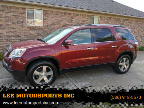 2011 GMC Acadia for sale at LEE MOTORSPORTS INC in Mount Clemens MI