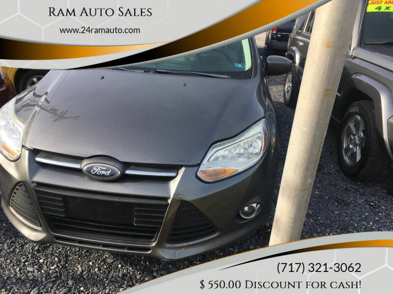 2012 Ford Focus for sale at Ram Auto Sales in Gettysburg PA
