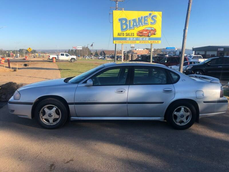 2001 Chevrolet Impala for sale at Blakes Auto Sales in Rice Lake WI