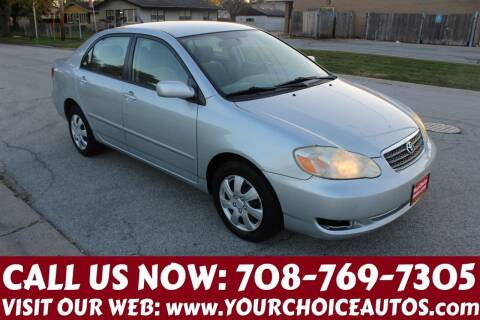 2006 Toyota Corolla for sale at Your Choice Autos in Posen IL