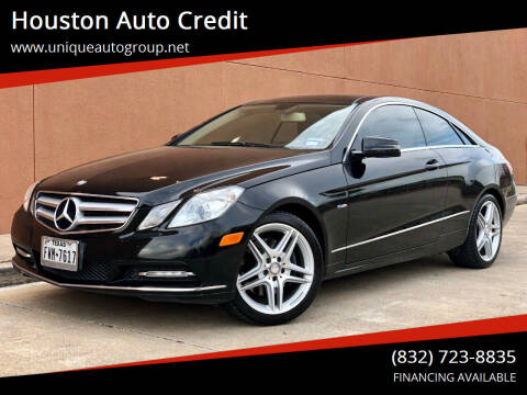 2012 Mercedes-Benz E-Class for sale at Houston Auto Credit in Houston TX