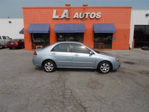 2008 Kia Spectra for sale at L A AUTOS in Omaha NE
