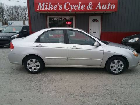 2008 Kia Spectra for sale at MIKE'S CYCLE & AUTO in Connersville IN