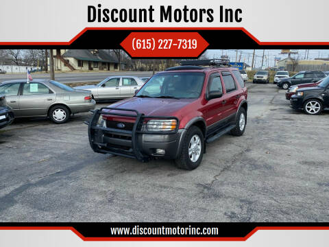 2003 Ford Escape for sale at Discount Motors Inc in Nashville TN