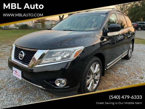 2014 Nissan Pathfinder for sale at MBL Auto in Fredericksburg VA