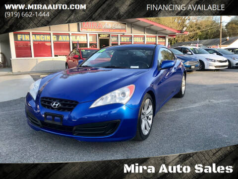 2010 Hyundai Genesis Coupe for sale at Mira Auto Sales in Raleigh NC