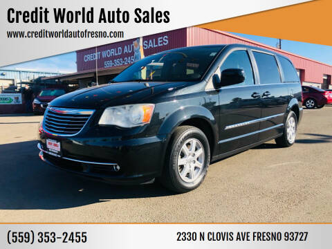 2012 Chrysler Town and Country for sale at Credit World Auto Sales in Fresno CA