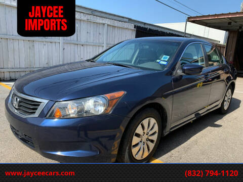 2010 Honda Accord for sale at JAYCEE IMPORTS in Houston TX