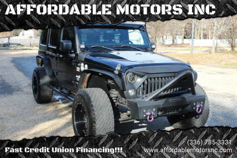 2014 Jeep Wrangler Unlimited for sale at AFFORDABLE MOTORS INC in Winston Salem NC