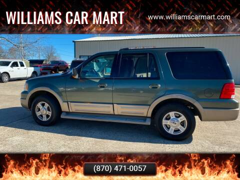 2004 Ford Expedition for sale at WILLIAMS CAR MART in Gassville AR