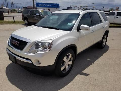 2011 GMC Acadia for sale at Key City Motors in Abilene TX