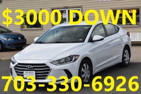 2017 Hyundai Elantra for sale at MANASSAS AUTO TRUCK in Manassas VA