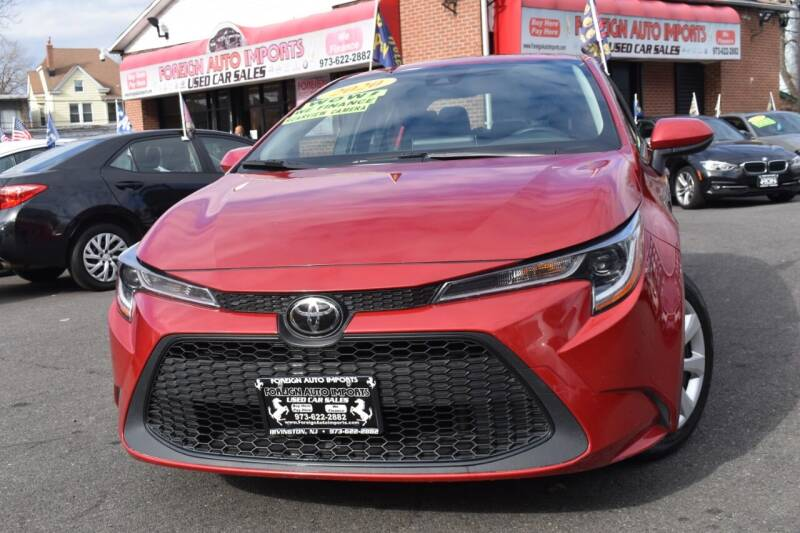 2020 Toyota Corolla for sale at Foreign Auto Imports in Irvington NJ