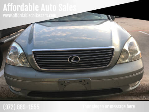 2001 Lexus LS 430 for sale at Affordable Auto Sales in Dallas TX