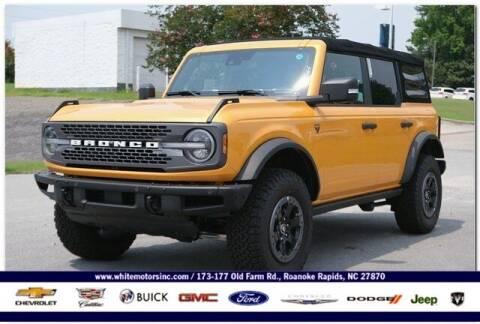 2021 Ford Bronco for sale at WHITE MOTORS INC in Roanoke Rapids NC