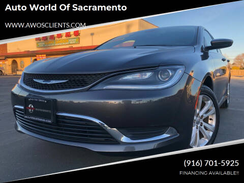 2015 Chrysler 200 for sale at Auto World of Sacramento Stockton Blvd in Sacramento CA