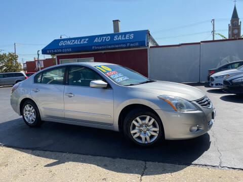 2010 Nissan Altima for sale at Gonzalez Auto Sales in Joliet IL