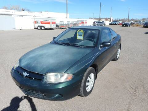 2003 Chevrolet Cavalier for sale at AUGE'S SALES AND SERVICE in Belen NM