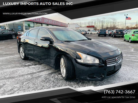 2010 Nissan Maxima for sale at LUXURY IMPORTS AUTO SALES INC in North Branch MN